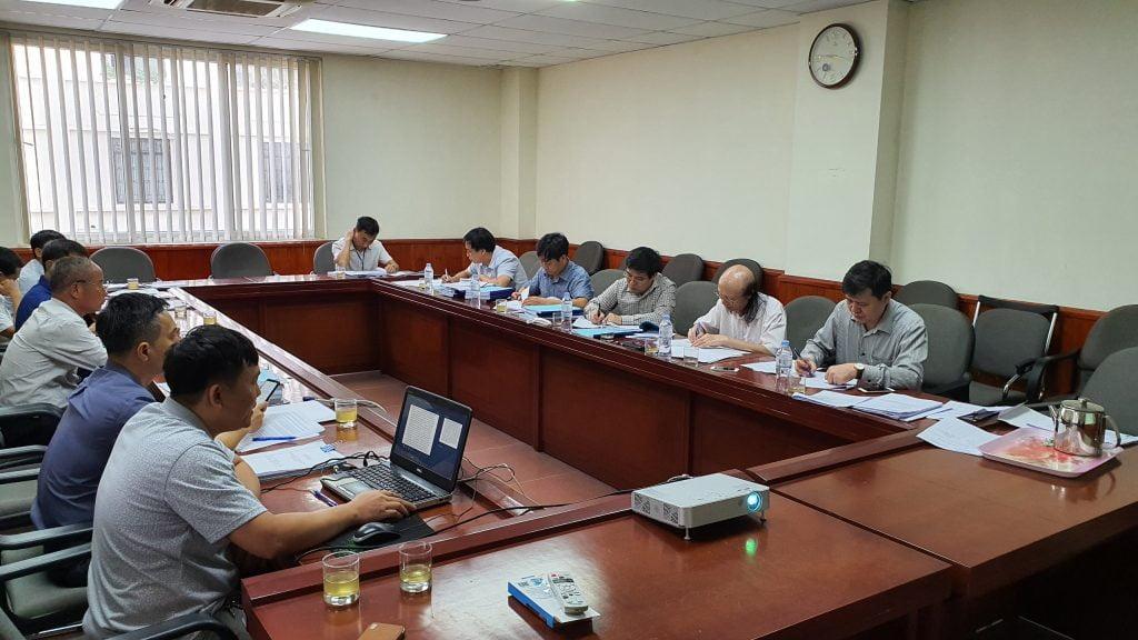 Toàn cảnh buổi nghiệm thu các nhiệm vụ KHCN do Viện Nghiên cứu Cây nguyên liệu giấy thực hiện.