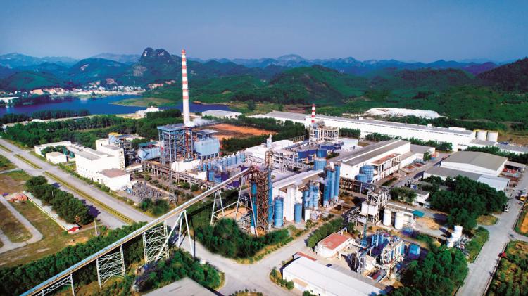 Nhà máy giấy và bột giấy An Hòa tại Tuyên Quang.